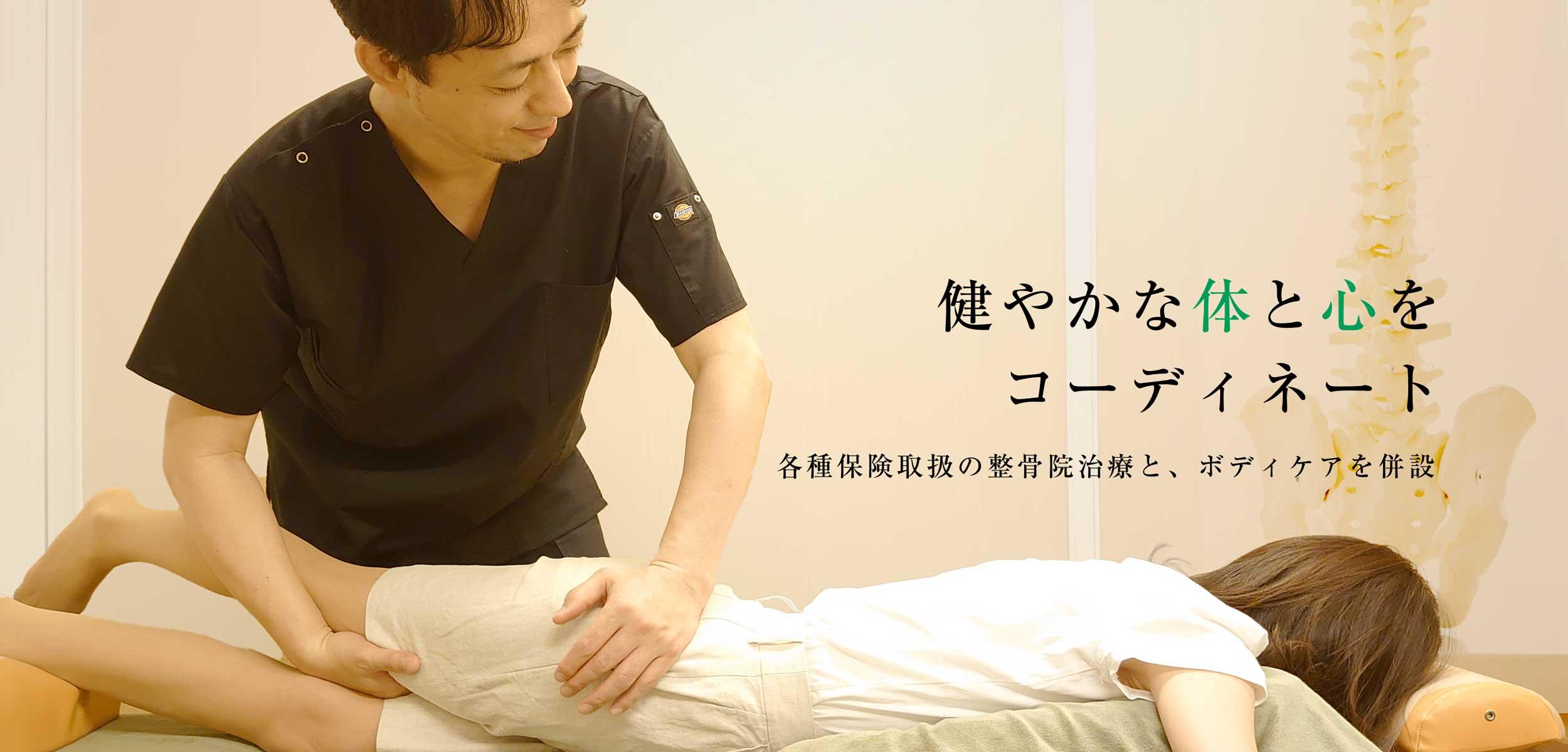 ボディセラピー浜松町整骨院 - 健やかな体と心をコーディネート。各種保険取扱の整⾻院治療と、ボディーケアを併設